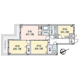 ダイアパレス鶴見中央の間取図