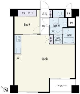 ライオンズマンション西新宿の間取図