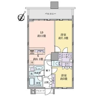 BrilliaMare有明タワー&ガーデンの間取図