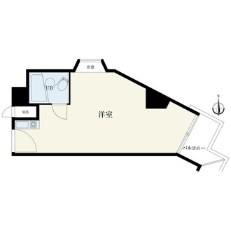 新宿ダイカンプラザB館の間取図