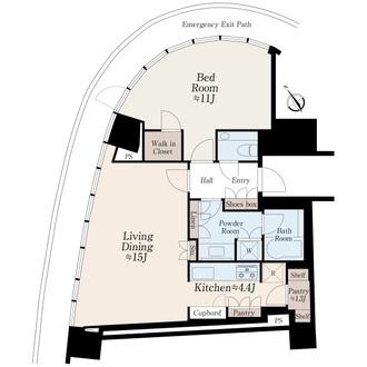 パークコート青山ザタワーの間取図