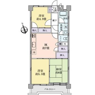 第2用賀ヒミコマンションの間取図