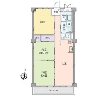 東卸豊海住宅2号棟の間取図