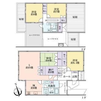大倉山ヒルタウン七号棟の間取図