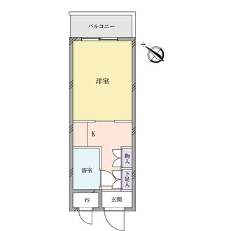 スカイコート横浜平沼の間取図