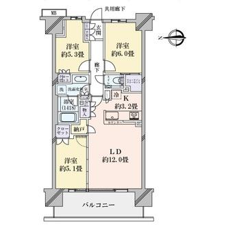 クラッシィハウス湘南藤沢の間取図