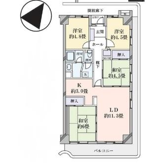 鎌倉岩瀬ハイツの間取図
