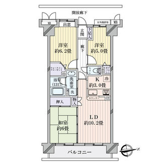 レックスハイツ綾瀬ステーションタワーの間取図
