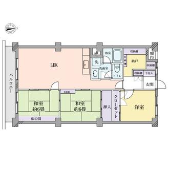 ときわ平グリーンパークマンションの間取図