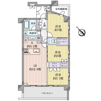 ネスティア菊名桜山公園ヒルトッププレイスの間取図