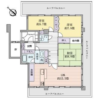 チサンマンション町田中町の間取図