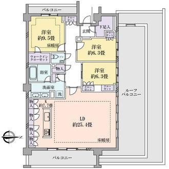 パークコート渋谷大山町ザプラネ悠邸の間取図