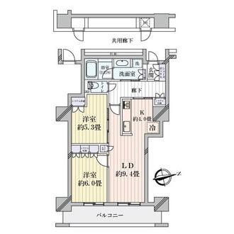 阿波座ライズタワーズフラッグ46の間取図