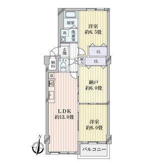 緑橋第2コーポ一号棟の間取図