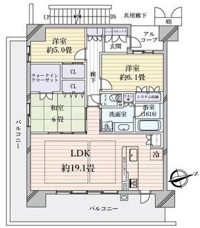 メイツブラン大阪城公園の間取図