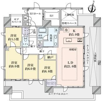 グランドメゾン真田山ゲートハウスの間取図