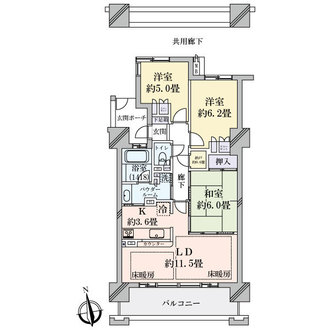 セントラルレジデンス城東シティタワーの間取図