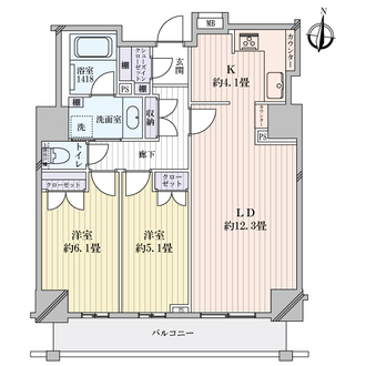 アデニウムタワー梅田の間取図