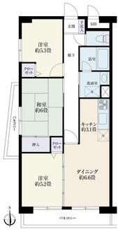 サニーハウス竹ノ塚の間取図