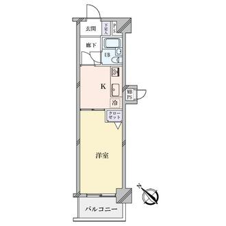 クリオ南生田壱番館の間取図