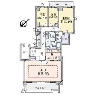 パークハウス多摩川南五番館の間取図