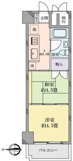 錦糸町ハイタウンの間取図