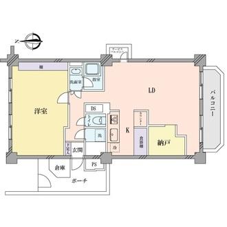 検見川パークマンションA棟の間取図