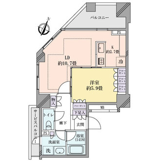 五番町マンションの間取図