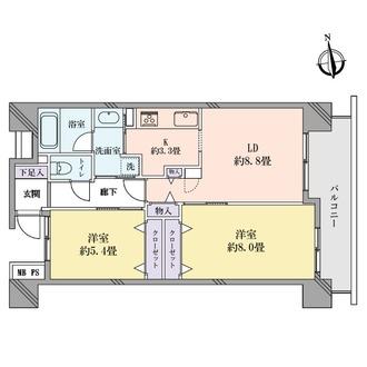 クリオレジダンス大森センターの間取図