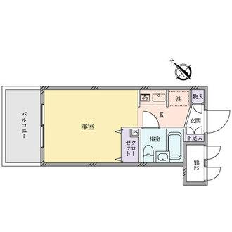 日神パレステージ蒔田公園の間取図