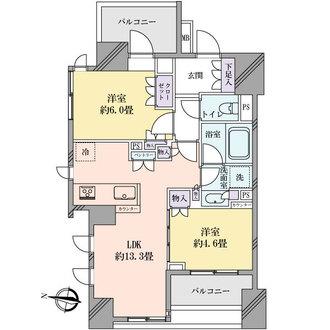 ザ・パークハウスアーバンス中野中央の間取図