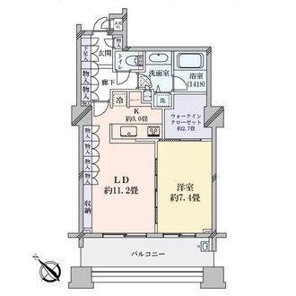 パークタワー東京フロントの間取図