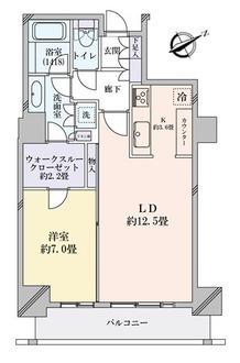 パークタワー芝浦ベイワードオーシャンウィングの間取図