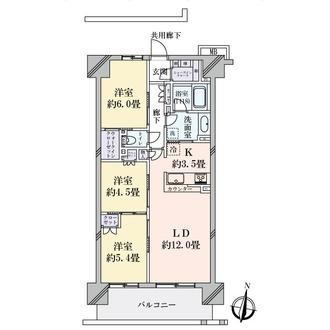 クレヴィア辰巳 キャナルステージ棟の間取図