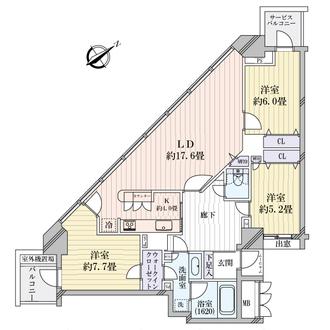 アップルタワー東京キャナルコートの間取図
