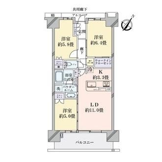 シティテラス神崎川駅前の間取図