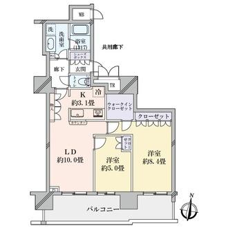 ローレルタワー梅田の間取図
