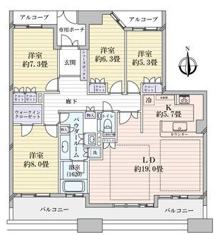 ロイヤルアークグランデールタワーの間取図