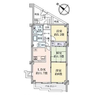 ユニハイム魚崎II号棟の間取図
