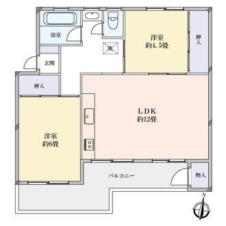 笹下台団地9-11号棟の間取図