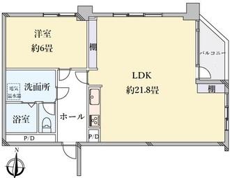 白壁ビルの間取図