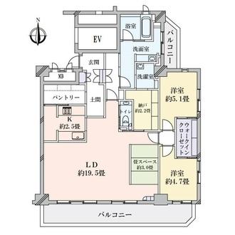 徳川一丁目パーク・マンションの間取図