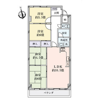 丸美タウンマンション松原の間取図