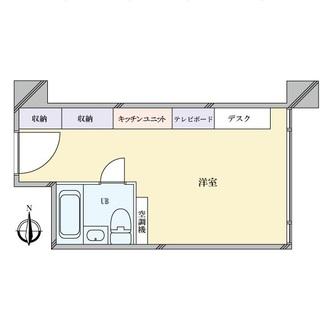 東カン名古屋キャステールの間取図