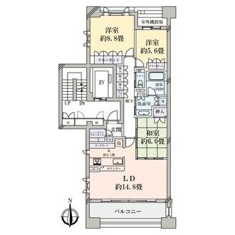 セントラルガーデン・レジデンス2 D棟の間取図