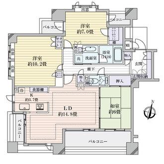 本山シティハウスの間取図