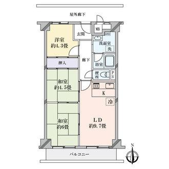 日商岩井泉尾マンションの間取図