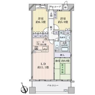 藤和浜寺公園ホームズ駅前通りの間取図