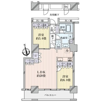 阿波座ライズタワーズフラッグ46 の間取図
