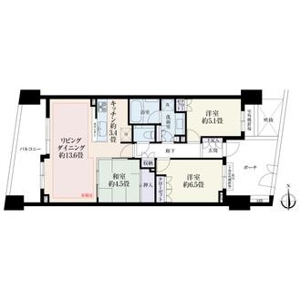 パークハウスフォレストリエの間取図
